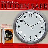 Wanduhr mit Tresor Wandtresor Geheimfach versteckter Safe für Ihre Wertgegenstände D: 25 cm