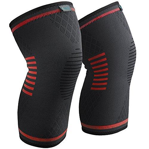 Sable Knieschoner Knieschützer 1 Paar schnellere Genesung, mehr Stabilität und Unterstützung beim Laufen und Joggen, Schwarz-Orange, Größe: S
