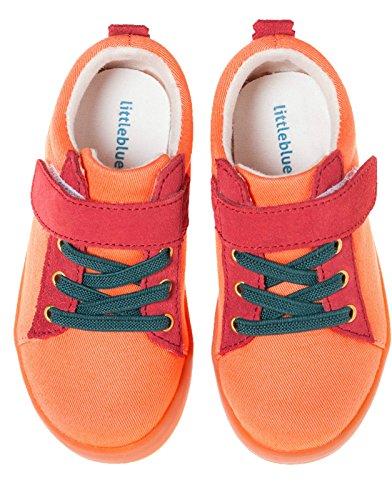 Little Blue Lamb Schuhe Halbschuhe Sneaker 7120 Canvas & Leder orange Orange