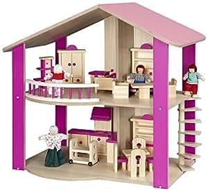 Bayer Chic 2000 294 01 - Puppenhaus aus Holz, pink: Amazon