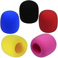 ESUMIC® 45 mm Diametro interno Schiuma Microfono Parabrezza (confezione da 5) (colorato) - Schiuma Microfono Parabrezza