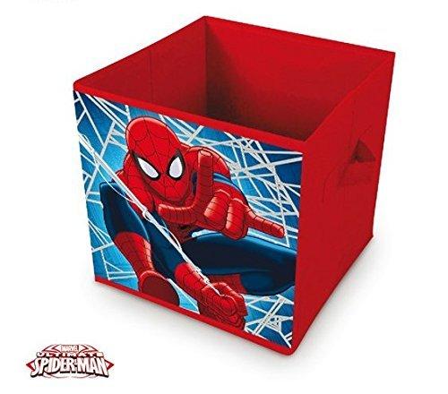 Pouf//Cube de Rangement en Polyester sous Licence Spiderman Dimensions 30x30x30cm SM11588U ARDITEX