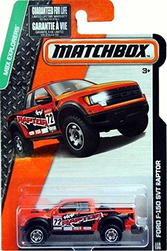 MATCHBOX 2015 RELEASE ORANGE FORD F-150 SVT RAPTOR 118/120 (Raptor Matchbox)