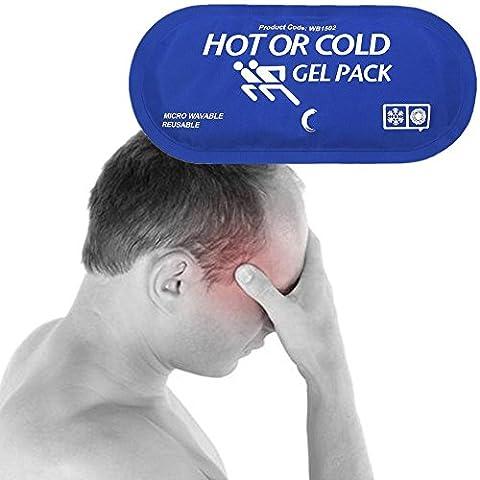 Le pack de gel réutilisable offre une application confortable de la thérapie de chauffage ou de refroidissement, 5