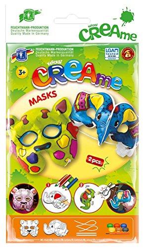 Feuchtmann Juguetes 6340705 - Klecksi Creame Máscaras, 3D - Colorear, la jirafa y el elefante adorno