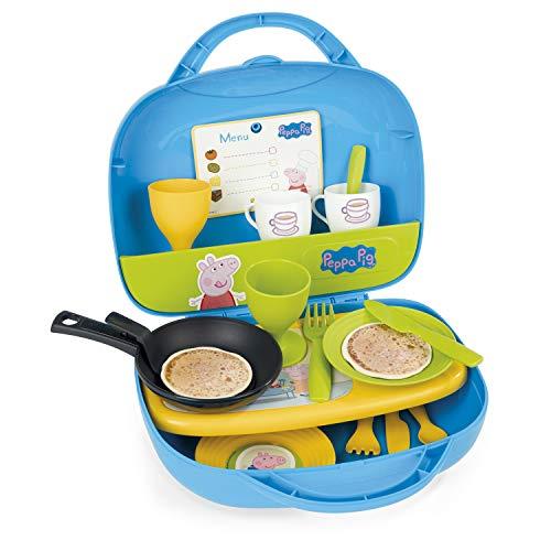 Smoby–310605–Peppa Pig–Mini Cucina–trasportabile–+ 17Accessori Inclusi–+ 1Spina ricetta Peppa Pig