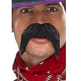 Smiffys Déguisement Homme, Moustache épaisse gringo, Noir, 39284