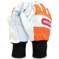 Oregon Chainsaw Left-Hand Protection Leather Gloves – Small (size 8) (91305S)