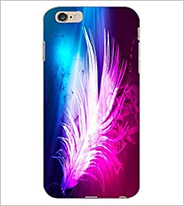 PrintDhaba Feather D-2434 Back Case Cover for APPLE IPHONE 6S (Multi-Coloured)