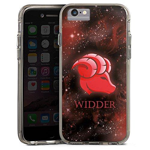 Apple iPhone 6 Bumper Hülle Bumper Case Glitzer Hülle Sternzeichen Widder Astrologie Bumper Case transparent grau