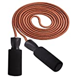 #9: leather skipping rope for weight loose,