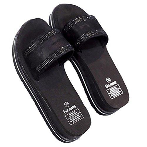 Women es Summer High Heels Slide Sandalen Mode Dicken Boden Pantoffel Rutschfeste Sandalen (Dressy Sandalen Mädchen)