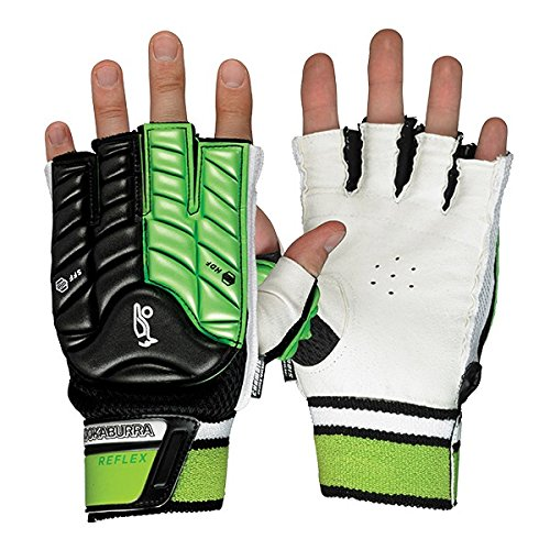 Kookaburra  Unisex Reflex Hand Guard M R/H Hockey Protective Equipment, Black/Lime, Medium