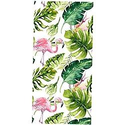 Homyl Tropischer Stil Sichtschutzfolie Milchglasfolie Selbstklebend Folie für Haus Balkon Badezimmer - # 5