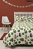 Character World Hive Easy on The Sprouts Weihnachts-Bettwäsche, Doppelbettbezug und Passender Kissenbezug, wendbar, Sprout Festliches Weihnachtsmotiv (Doppel)