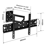 Image of Sunydeal Tilt Swivel Tv Wall Mount Bracket For Samsung Sony Lg Philipscorner Plasma Lcd Led 3d Tv Wall Bracket Fits 30 60 Inch Vesa 100x100 Up To 500 X 400 Load Capacity 45 Kg99 Lbs