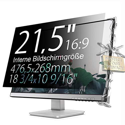 Xianan Schutz der Privatsphäre - 21,5 zoll 16:9 Seitenverhältnis Blickschutzfilter Blickschutzfolie Bildschirmschutz for Widescreen Computer Monitor