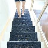 WXFC Massivholz Hause treppen pad Schritt Matte pad wendeltreppe pad Rutschfeste Gummi Selbstklebende pad, 11