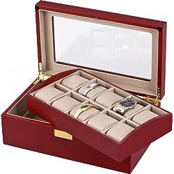 Auer Accessories Leda VS80110C Uhrenbox Herausnehmbares Tablett