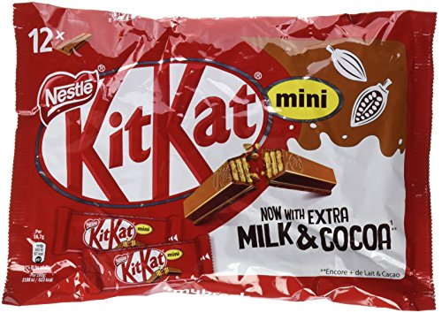 NESTLÉ KITKAT Mini Chocolate con Leche - Barritas en Bolsa 200g