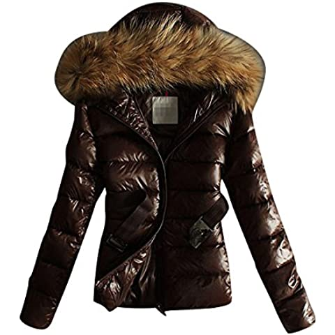 LvRao Mujer cazadoras de plumas corto chaquetas de invierno anorak plumas calentar chaqueta con