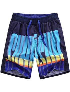 WDDGPZ Pantalones Cortos De Playa/Moda Playa Verano Hombres Impresa Shorts Shorts Junta Seca Rápida L-3Xl 304,...