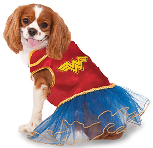 Rubies Costume Company DC Comics Wonder Woman Pet Tutu Kleid (Woman Kostüm Tutu Wonder)