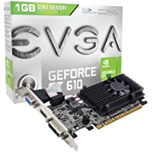 EVGA 01G-P3-2615-KR NVIDIA GeForce GT 610 1GB - Tarjeta gráfica (NVIDIA, GeForce GT 610, 2560 x 1600 Pixeles, 1 GB, DDR3-SDRAM, 64 Bit)