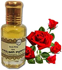 KAZIMA Rose Attar Perfume For Unisex Pure - Pure Natural Undiluted (Non-Alcoholic) (10ml)