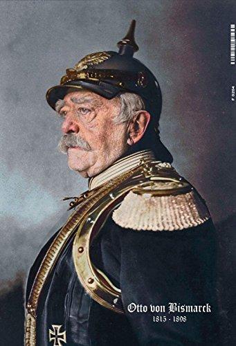 Otto von Bismarck 1816-1898 Portrait blechschild