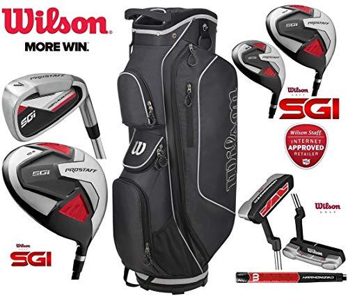 Wilson Prostaff SGI Herren Golfschläger-Set, 13-teilig, mit Stahlschaft und Graphitschaft, für Rechtshänder und Prostaff