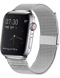 Correa del Reloj Waband Compatible con Smart Watch de 38mm 40mm 42mm 44mm, Pulsera para Reloj de Reemplazo de Acero Inoxidable con Imán para Watch Series 5/4/3/2/1