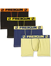 Freegun Solid X4, Boxer Homme, (lot de 4)
