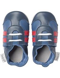 Bobux BBG 4237 - Zapatos para bebé, color azul marino y rojo