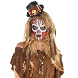 Mini Zylinder zum Voodoo Priester Kostüm - Hochwertiger Hut - perfekt zu Hexe, Voodoodoktor oder Zigeuner