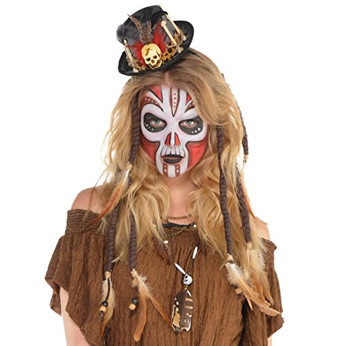 odoo Priester Kostüm - Hochwertiger Hut - perfekt zu Hexe, Voodoodoktor oder Zigeuner (Voodoo-hexe Kostüm)