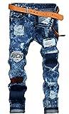 UMilk Uomo distrutto Ripped Etero Jeans con fori Zipper