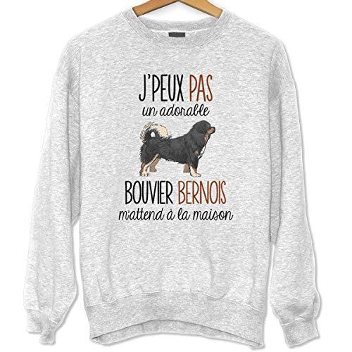 La Boîte à Design Bouvier Bernois | Désolé Je Peux Pas | Sweat Unisexe Humour Fun Drôle et Mignon - Collection Animaux et Races de Chiens Collection Animaux M