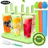 Specool 6 Eisformen Popsicle Formen EIS am Stiel BPA Frei Set,3 Stück Eislutscher Popsicle Formen, LGFB Geprüft und Bra Frei, mit Reinigungsbürste. ...