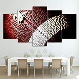 Ayhuir Leinwand Malerei Druckt 5 Stücke American Football Wandkunst Leinwand Bilder Für Wohnzimmer Schlafzimmer Modulare Wohnkultur40x60cm-no frame