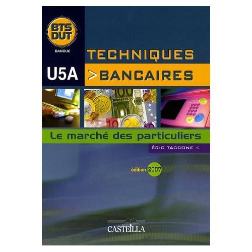 Techniques bancaires BTS/DUT U5A : Le marché des particuliers