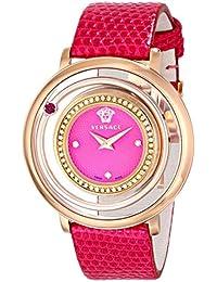 Versace vfh150014Venus pantalla analógica de la mujer cuarzo rosa Reloj