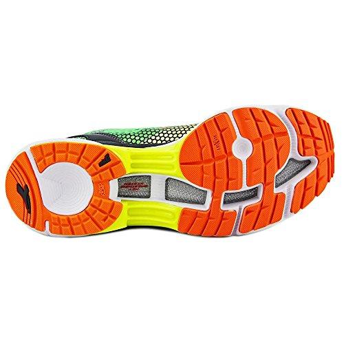 Diadora Scarpa Running Sneaker Jogging Uomo N-6100-4 Yellow fluo/green fluo Scarpe Yellow Fluo/Green Fluo