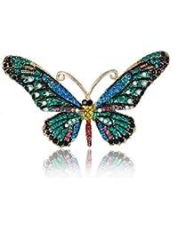 7e73594fe0cb WayOuter Broches de Mujer de Cristales Ropa Broches Moda Decoración del  Partido Alfiler Para el Accesorios