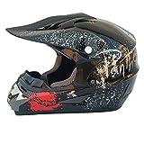 LUHUIYUAN Downhill-Helm für Motorradhelm Off-Road-Rennhelm,d,L