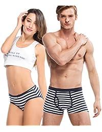 HÖTER® Navy Style Paar Liebhaber Unterwäsche Mens Boxer Frauen Brief
