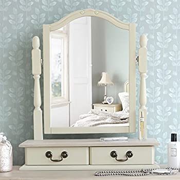 Juliette Shabby Chic Champagne Trinket Mirror Cream