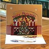 BC Worldwide Ltd 3D pop-up biglietto di auguri Natale Natale vigilia silenziosa albero camino regalo papercraft