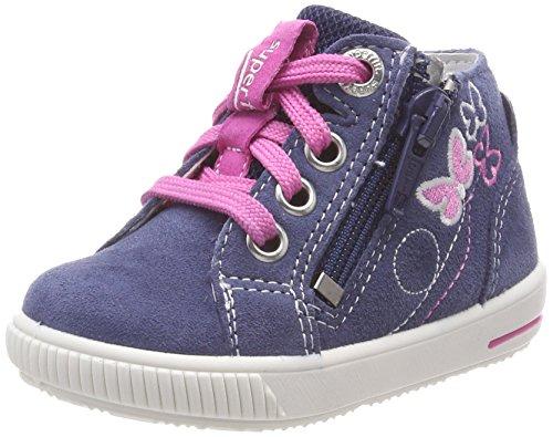 Superfit Baby Mädchen Moppy Sneaker, Blau (Water Kombi), 19 EU