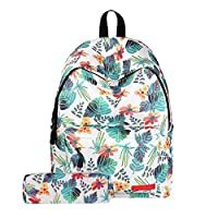 Feicuan School Bag, Floral Galaxy Printing Pattern Laptop Backpack Oxford Rucksack Teenage Girl